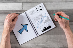 Business analysis concept on a notepad. Business analysis concept drawn on a notepad Stock Images