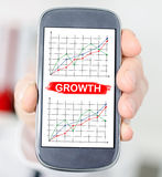 Business analysis concept on a smartphone Royalty Free Stock Photo