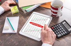 Business analysis concept on a tablet Stock Image