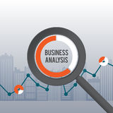 Business Analysis Concept. Vector abstract illustration of business analysis concept Royalty Free Stock Photography