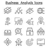 Business Analysis & Conceptual icon set in thin line style Royalty Free Stock Photography