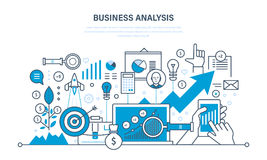 Business analysis, data analytics, research, strategy statistic and planning, marketing. Business analysis, data analytics and research, strategy statistic and Stock Photography