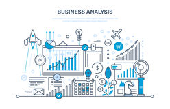 Business analysis, data analytics and research, strategy statistic, planning, marketing. Royalty Free Stock Photo