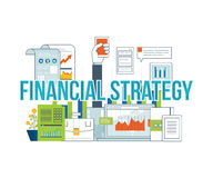 Business analysis, financial report and strategy. Concepts for business analysis and planning, financial strategy and report, consulting, teamwork, project Stock Photo