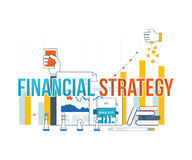 Business analysis, financial report and strategy. Royalty Free Stock Photo