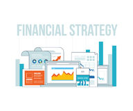 Business analysis, financial report and strategy. Royalty Free Stock Photos