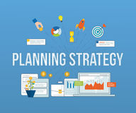 Business analysis, financial report and strategy. Royalty Free Stock Image
