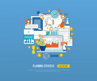 Business analysis, financial report and strategy. Royalty Free Stock Photography