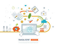 Business analysis, financial report and strategy. Flat design illustration concepts for business analysis and planning, financial report and strategy Stock Images