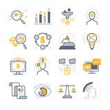 Business Analysis icons. Flat Design Vector Illustration: Business Analysis icons Royalty Free Stock Images