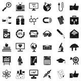 Business analysis icons set, cartoon style Royalty Free Stock Photos