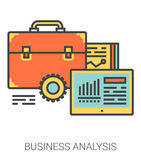 Business analysis line icons. Royalty Free Stock Photo