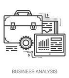 Business analysis line icons. Royalty Free Stock Photos