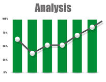 Business Analysis symbol icon and chart Stock Photos