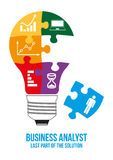 Business analyst design concept. Stock Photography