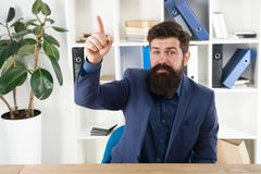 Business analyst. Great idea. Modern businessman. Male fashion in business office. Bearded man analyst. Mature hipster. With beard. Confident brutal man analyst stock image