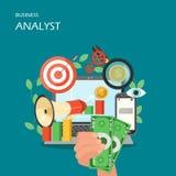 Business analyst vector flat style design illustration vector illustration
