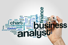 Business analyst word cloud. Concept royalty free stock photography