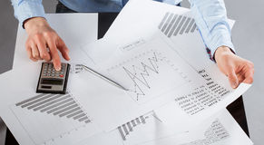 Business analyst working Royalty Free Stock Photo
