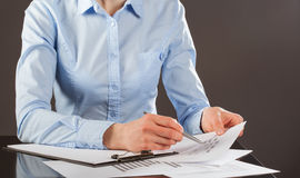 Business analyst working with data royalty free stock image