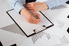 Business analyst working with data Stock Photos