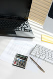 Business analyst workplace Stock Photos
