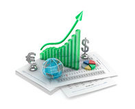 Business analythics. Charts and signs. Royalty Free Stock Image