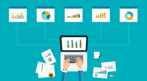 Business analytic graph report . business investment planning Royalty Free Stock Photography