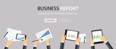 Business analytic graph report . business investment planning Stock Images