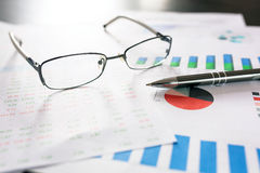Business analytic research concept Royalty Free Stock Photo