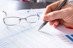 Business analytic research concept Stock Photos