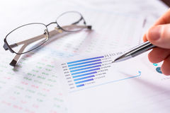 Business analytic research concept Stock Images