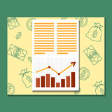Business analytics and business graph, Royalty Free Stock Photography
