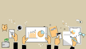 Business analytics concept. Reports, finance, accounting. Vector Royalty Free Stock Photos