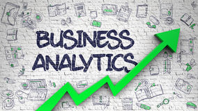 Business Analytics Drawn on White Wall. Royalty Free Stock Images