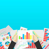 Business analytics and financial audit. Flat illustration Stock Image