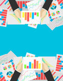 Business analytics and financial audit. Flat illustration Stock Photography