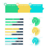 Business analytics and financial audit infographics. Vector illustration Stock Photos
