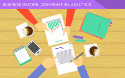 Business analytics and financial audit. Vector illustration Stock Images