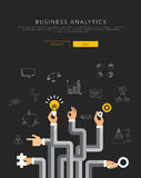 Business analytics flat template, vector Royalty Free Stock Photo