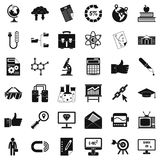 Business analytics icons set, cartoon style Royalty Free Stock Photography