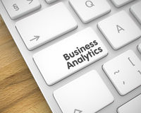 Business Analytics - Message on the White Keyboard Button. 3D. Royalty Free Stock Images