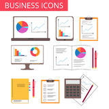 Business, analytics, office icons. For web design or presentations. Vector illustration EPS10 stock illustration