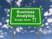 Business analytics road sign Royalty Free Stock Images