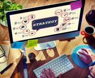 Business Analytics Strategy Methods Tactics Graphic Concept Stock Images