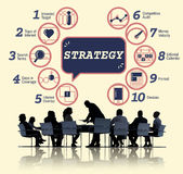 Business Analytics Strategy Methods Tactics Graphic Concept Stock Photos