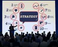 Business Analytics Strategy Methods Tactics Graphic Concept Stock Photo