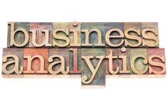 Business analytics typography Stock Images
