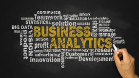 Business analytics word cloud stock images