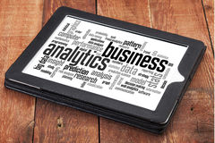 Business analytics word cloud Stock Photos